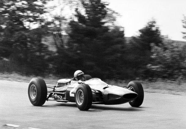 1965 United States Grand Prix.Watkins Glen, New York, USA. 1st-3rd October 1965.Lorenzo Bandini, Ferrari 1512, 4th position, action.World Copyright - LAT Photographic.Ref-B/W Print