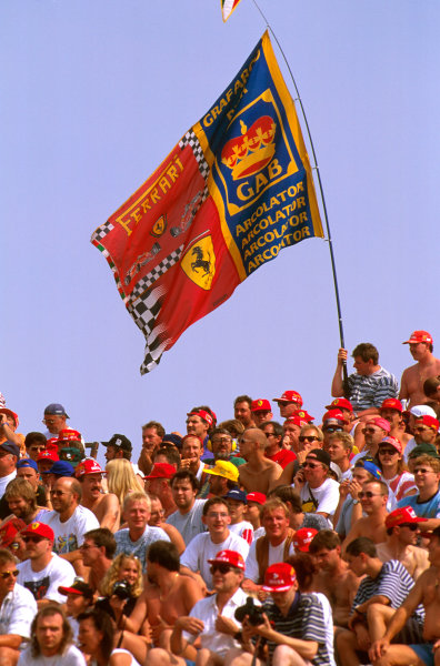 Hungaroring, Hungary.8-10 August 1997.There were many Ferrari fans in the crowd.Ref-97 HUN 34.World  Copyright - LAT Photographic