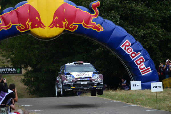 Thierry Neuville (BEL) and Nicolas Gilsoul (BEL), Ford Fiesta RS WRC on stage 11.FIA World Rally Championship, Rd9, ADAC Rally Germany, Day Three, Trier, Germany, 24 August 2013.