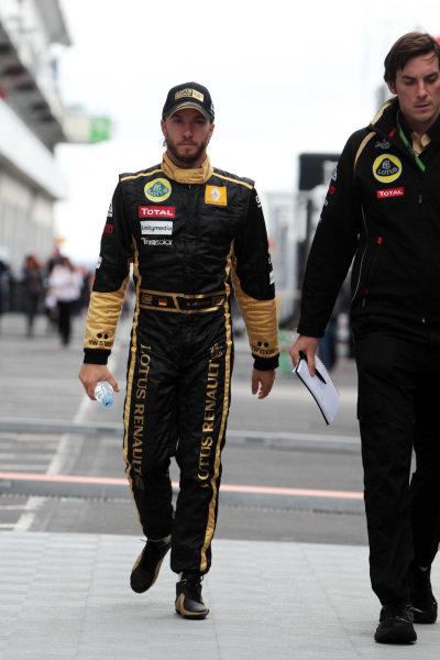 Nick Heidfeld (GER) Lotus Renault GP. Formula One World Championship, Rd 10, German Grand Prix, Qualifying Day, Nurburgring, Germany, Saturday 23 July 2011.