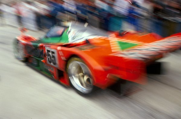 Johnny Herbert (GBR) / Volker Weidler (GER) / Bertrand Gachot (BEL) Mazda 787B won the race.