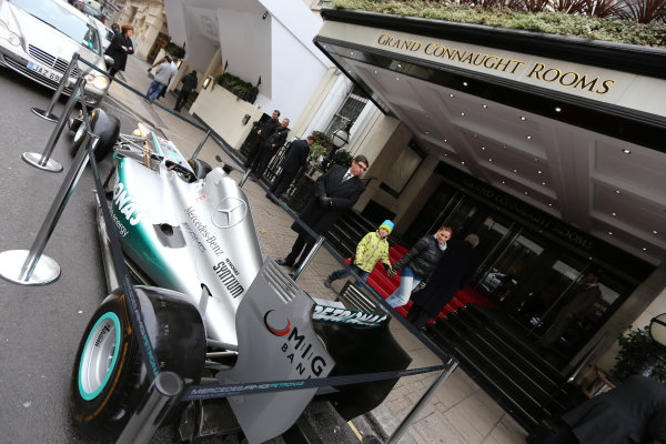 2013 BRDC Awards,2nd December 2013, Grand Connaught Rooms, London, England,Mercedes F1 CarWorld Copyright. Jakob  Ebrey/LAT Photographic