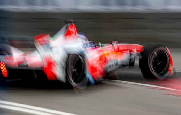 2016/2017 FIA Formula E Championship. Hong Kong ePrix, Hong Kong, China. Saturday 8 October 2016. Nick Heidfeld (GER), Mahindra Racing, Spark-Mahindra, Mahindra M3ELECTRO.  Photo: Zak Mauger/LAT/Formula E ref: Digital Image _L0U0631
