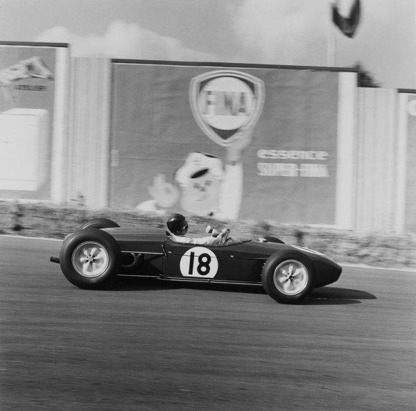 Spa-Francorchamps, Belgium.17-19 June 1960.Jim Clark (Lotus 18 Climax) 5th position, action. World Copyright: LAT Photographic.Ref:  6644.