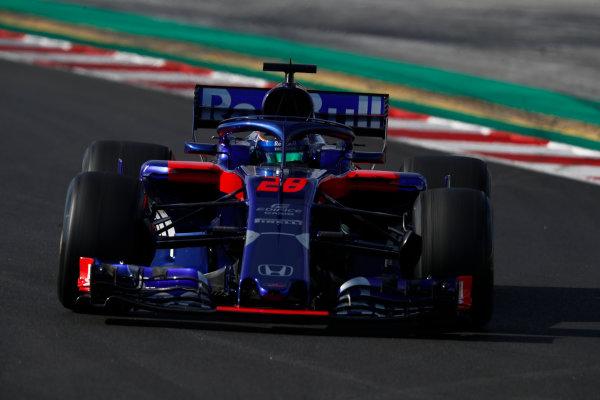 Circuit de Catalunya, Barcelona, Spain. Friday 09 March 2018. Brendon Hartley, Toro Rosso STR13 Honda. World Copyright: Glenn Dunbar/LAT Images ref: Digital Image _X4I1624