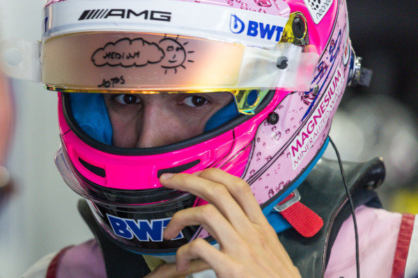 Esteban Ocon (FRA) Force India at Formula One World Championship, Rd19, Brazilian Grand Prix, Practice, Interlagos, Sao Paulo, Brazil, Friday 10 November 2017.