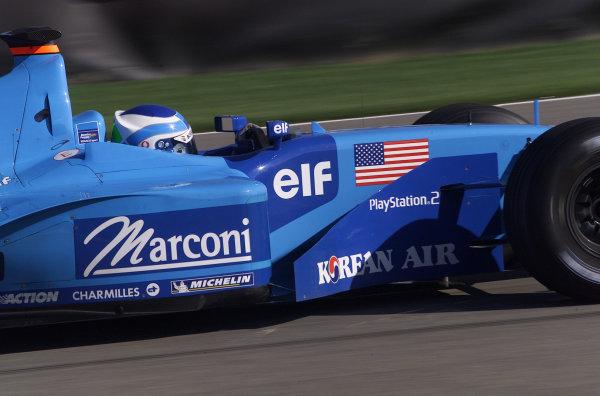2001 American Grand Prix - QualifyingIndianapolis, United States. 29th September 2001.Giancarlo Fisichella, Benetton Renault B201 action.World Copyright: Steve Etherington/LAT Photographicref: 18mb Digital Image