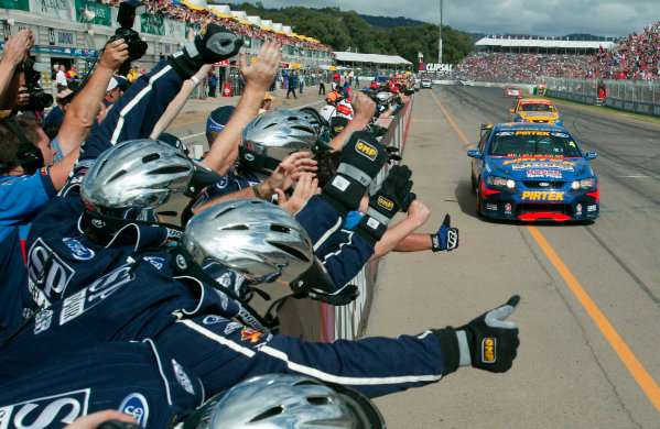 Clipsal 500 V8 Supercars Adelaide 22nd March 2003Ford driver Marcos Ambrose driving his BA Falcon took victory in race 1 of the 2003 V8 Supercar Championship.World Copyright: Mark Horsburgh/LAT Photographicref: Digital Image Only
