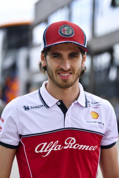 Antonio Giovinazzi, Alfa Romeo Racing in the paddock