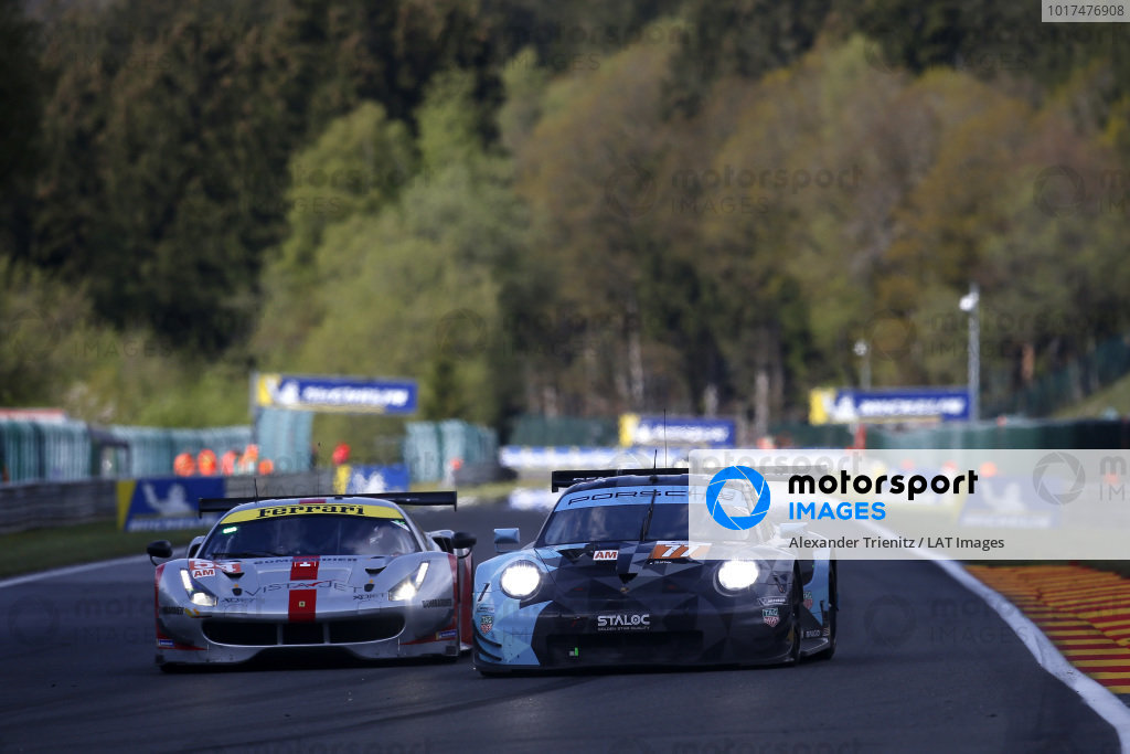 #77 Proton Competition Porsche 911 RSR: Christian Ried, Riccardo Pera, Matt Campbell.