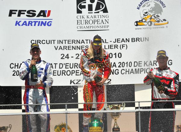 Beitske Visser (NED) Intrepid Driver Program. Karting European Championship, Varennes, France, 27 June 2010.