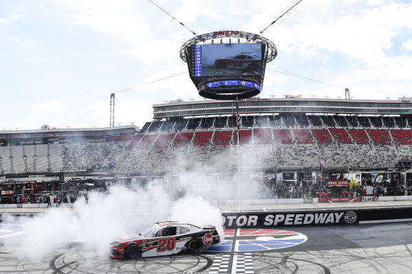 #20: Christopher Bell, Joe Gibbs Racing, Toyota Supra Rheem, wins the Alsco 300.