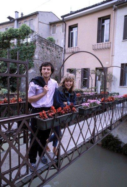 Padova, Italy. 1983. Riccardo Patrese and his wife Susi