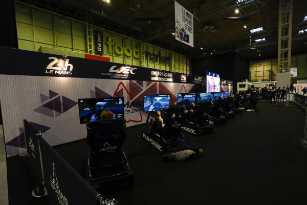 The Motorsport Network Esports Le Mans simulators are put to use.