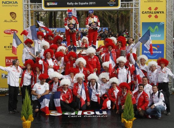 Round 12-Rally Spain. 20th-23th October 2011.Podium, Team, Citroen WRC, Portrait.Worldwide Copyright: McKlein/LAT