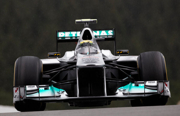 Spa-Francorchamps, Spa, Belgium 26th August 2011. Nico Rosberg, Mercedes GP W02. Action.  World Copyright: Steve Etherington/LAT Photographic ref: Digital Image SNE20930