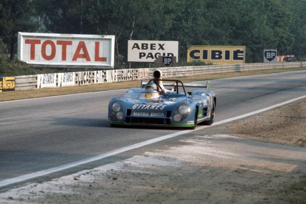 1974 Le Mans 24 hours.Le Mans, France. 15-16 June 1974.Gerard Larrousse/Henri Pescarolo (Matra-Simca MS670B), 1st position.  Ref: 74 LM 03 World Copyright: LAT Photographic