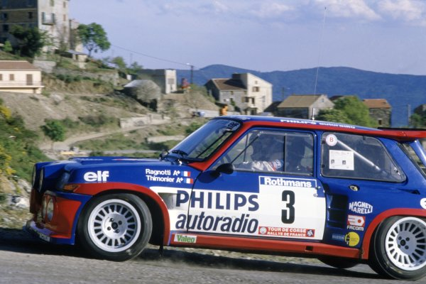 1985 World Rally Championship.Tour de Corse, Corsica, France. 2-4 May 1985.Jean Ragnotti/Pierre Thimonier (Renault 5 Maxi Turbo), 1st position.World Copyright: LAT PhotographicRef: 35mm transparency 85RALLY05