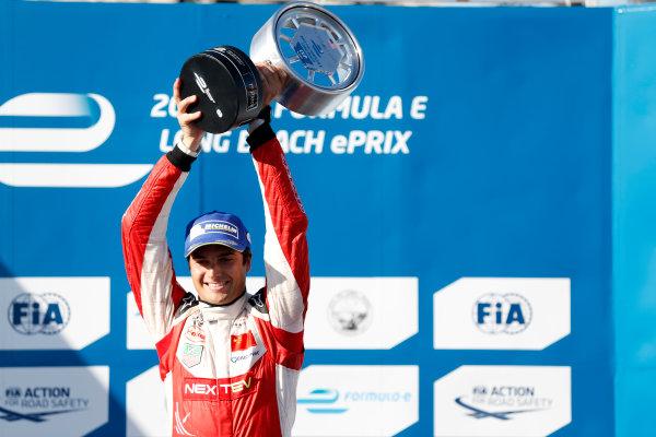 2014/2015 FIA Formula E Championship. Nelson Piquet Jr (BRA)/China Racing - Spark-Renault SRT_01E  Long Beach ePrix, Long Beach, California, United States of America. Sunday 5 April 2015  Photo: Al Staley/LAT/Formula E ref: Digital Image _R6T8619