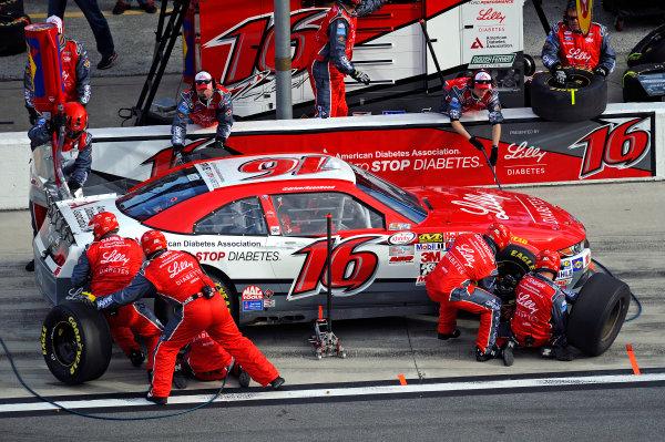 20-21 February, 2015, Daytona Beach, Florida USA Ryan Reed makes a pit stop. ?2015, F. Peirce Williams LAT Photo USA