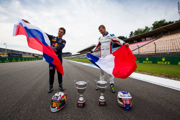 2016 GP2 Series Round 7 Hockenheimring, Hockenheim, Germany Thursday 28 July 2016. Pierre Gasly (FRA, PREMA Racing) & Sergey Sirotkin (RUS, ART Grand Prix)  Photo: Sam Bloxham/GP2 Series Media Service. ref: Digital Image _SBB9281