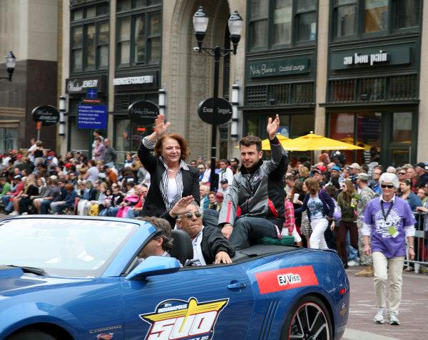26  May, 2013, Indianapolis, Indiana,  USA EJ Viso and family.(c)2013, Maria W. Grady LAT Photo USA