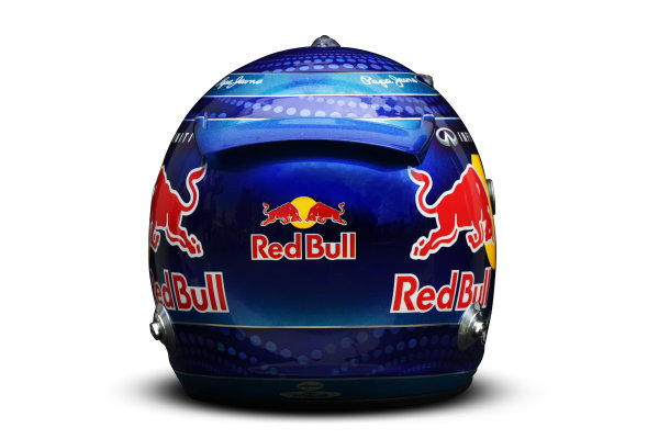 Albert Park, Melboune 14th March 2013 The helmet of Sebastian Vettel, Red Bull Racing. World Copyright: LAT Photographic ref: Digital Image DKAL8681