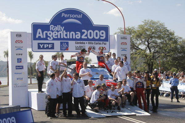 Round 05Rally Argentina 24- 27 of April 2009Daniel Elena, Sebastien Loeb, Team Citroen, WRC, PodiumWorldwide Copyright: McKlein/LAT