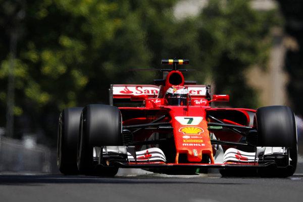 Baku City Circuit, Baku, Azerbaijan. Friday 23 June 2017. Kimi Raikkonen, Ferrari SF70H.  World Copyright: Glenn Dunbar/LAT Images ref: Digital Image _X4I9346