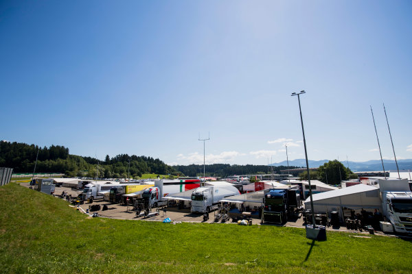 2017 FIA Formula 2 Round 5. Red Bull Ring, Spielberg, Austria. Thursday 6 July 2017. A view of the paddock. Photo: Zak Mauger/FIA Formula 2. ref: Digital Image _56I9964