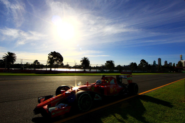 Sebastian Vettel (GER) Ferrari SF15-T at Formula One World Championship, Rd1, Australian Grand Prix, Practice, Albert Park, Melbourne, Australia, Friday 13 March 2015.