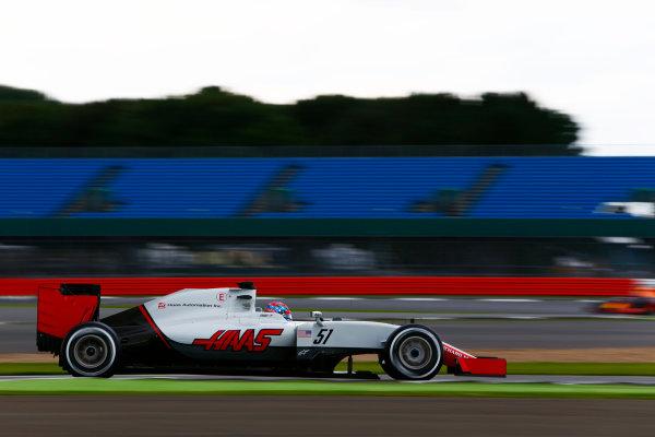 Silverstone, Northamptonshire, UK. Wednesday 13 July 2016. Santino Ferrucci, test and development driver, Haas VF-16.  World Copyright: Zak Mauger/LAT Photographic ref: Digital Image _L0U8471