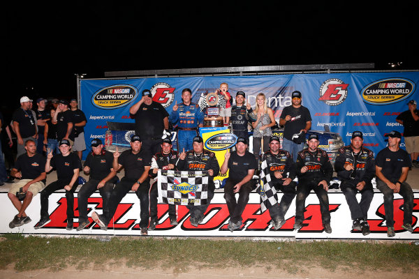19-20 July, 2016, Rossburg, Ohio USA Kyle Larson celebrates in victory lane  ?2016, Russell LaBounty LAT Photo USA