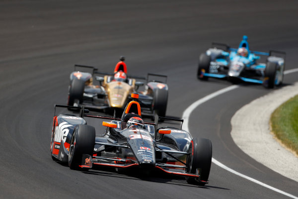29 May, 2016, Indianapolis, Indiana, USA Alex Tagliani leads James Hinchcliffe ?2016, Phillip Abbott LAT Photo USA