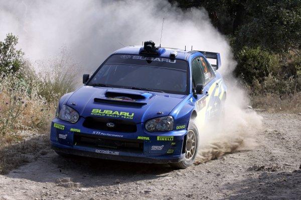 2005 World Rally ChampionshipCyprus Rally, Limassol, Cyprus. 13th - 15th May 2005.Petter Solberg (Subaru Impreza WRC), action.World Copyright: McKlein/LAT Photographicref: Digital Image