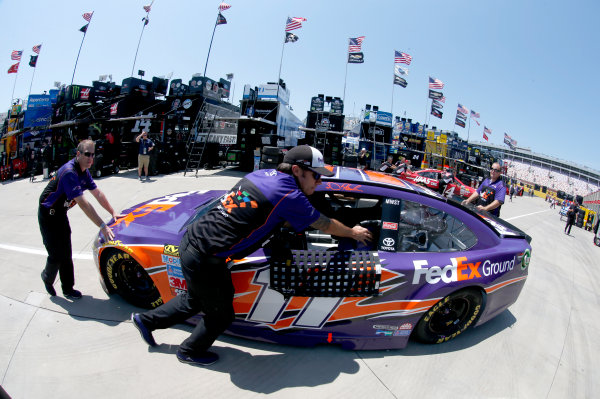 Monster Energy NASCAR Cup Series Monster Energy NASCAR All-Star Race Charlotte Motor Speedway, Concord, NC USA Friday 19 May 2017 Denny Hamlin, Joe Gibbs Racing, FedEx Ground Toyota Camry World Copyright: Matthew T. Thacker LAT Images ref: Digital Image 17CLT1mt1209