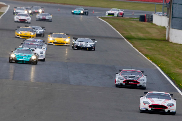 Silverstone, England. 30th April - 2nd May 2010.Darren Turner / Tomas Enge, (Young Driver AMR, Aston Martin DB9) leads the field. Action. World Copyright: Alastair Staley/LAT PhotographicRef: _O9T6874 jpg