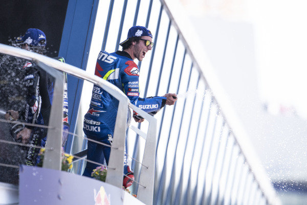 Podium: Second place Alex Rins, Team Suzuki MotoGP.