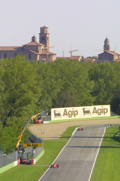 2001 San Marino Grand Prix.Imola, Italy. 13-15 April 2001.An atmospheric view of the track.World Copyright - LAT Photographicref: 8 9 MB Digital