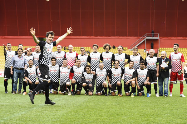 Charles Leclerc at the annual World Stars Football Match