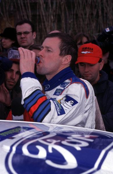 FIA World Rally ChampsCatalunya Rally, Spain. 30/3-2/4/2000Colin McRae, Ford Focus WRC, 1st place. Portrait.photo: World - McKleintel: (+44) 0208 251 3000e-mail: digital@latphoto.co uk35mm Original Image.