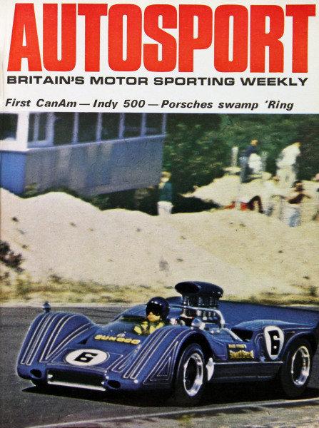 Cover of Autosport magazine, 6th June 1969