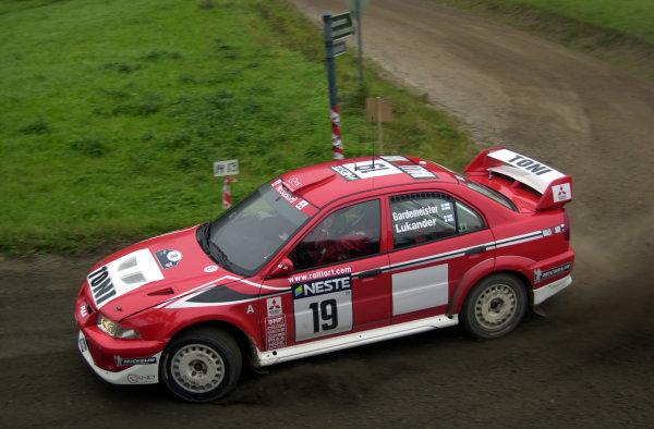 2001 World Rally Championship.Neste Rally Finland. Jyvaskyla, August 24-26, 2001.Toni Gardemeister on stage 10.Photo: Ralph Hardwick/LAT
