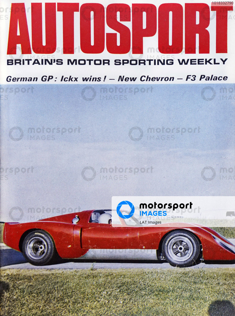 Cover of Autosport magazine, 8th August 1969