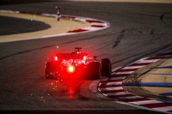 Sparks kick up from Pietro Fittipaldi, Haas F1 Haas VF-20