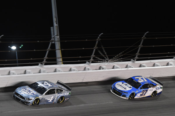 #4: Kevin Harvick, Stewart-Haas Racing, Ford Mustang Busch Light #TheCrew #37: Ryan Preece, JTG Daugherty Racing, Chevrolet Camaro Cottonelle