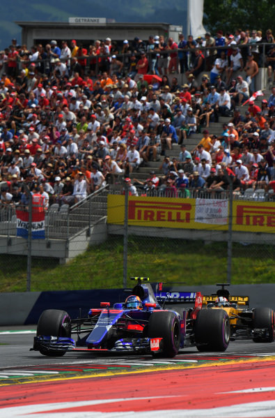 Carlos Sainz jr (ESP) Scuderia Toro Rosso STR12 at Formula One World Championship, Rd9, Austrian Grand Prix, Race, Spielberg, Austria, Sunday 9 July 2017.