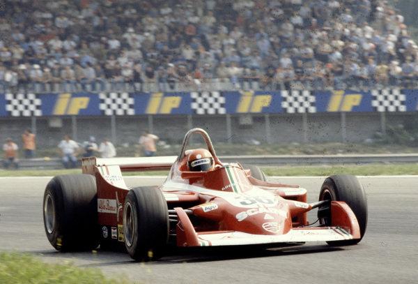 1979 Italian Grand Prix.Monza, Italy.7-9 September 1979.Vittorio Brambilla (Alfa Romeo 177) 12th position.Ref-79 ITA 18.World Copyright - LAT Photographic