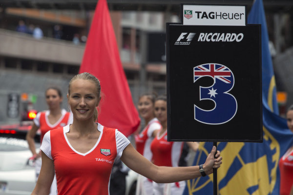 Grid girl at Formula One World Championship, Rd6, Monaco Grand Prix, Race, Monte-Carlo, Monaco, Sunday 29 May 2016.