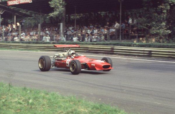 1968 Italian Grand Prix.Monza, Italy.6-8 September 1968.Chris Amon (Ferrari 312).Ref-68 ITA 65.World Copyright - LAT Photographic